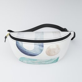 modern minimal studies of shape / agate abstract Fanny Pack