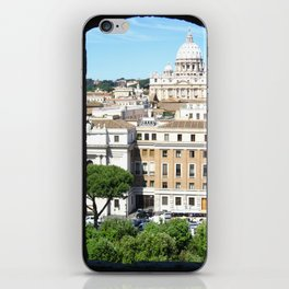 St. Peter's Through the Eyes of Castel St'Angelo - Italy iPhone Skin