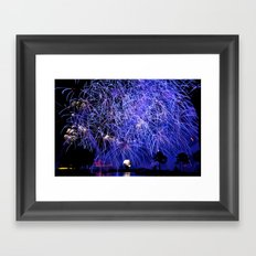 Illuminations Fireworks Framed Art Print