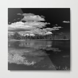 Sprague Lake under Clouds Metal Print