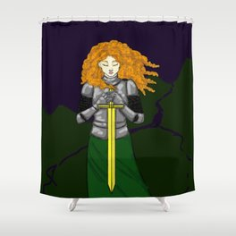 Lost Knight Shower Curtain