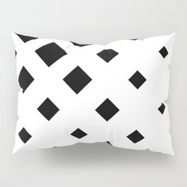 Fading Rombs Black And White Pillow Sham