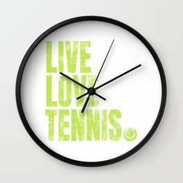 Tennis Player Game Love Ball Sports Gift Wall Clock