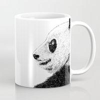 pandas Mugs featuring pandas by barmalisiRTB