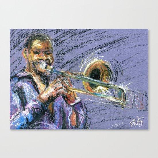 Jazz Trombonist Canvas Print