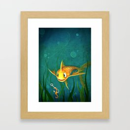 Hook, Line, and Sinker Framed Art Print