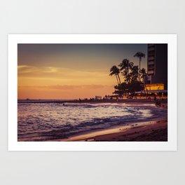 Sunset in Hawaii 0015 Art Print