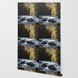 Mountain River Run Wallpaper