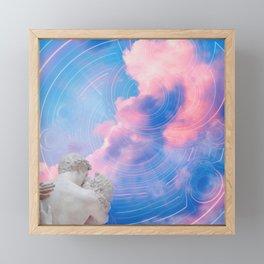 Statue Lovers Framed Mini Art Print