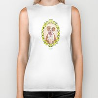 pit bull Biker Tanks featuring Remy the Pit Bull by Alina Bachmann