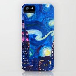 Starry Night in New York - Van Gogh Inspirations in Manhattan iPhone Case