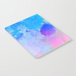 Abstract Candy Glitch - Pink, Blue and Ultra violet #abstractart #glitch Notebook