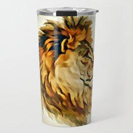 MAJESTIC LION PORTRAIT Travel Mug