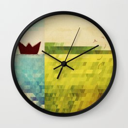 red boat Wall Clock