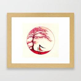 Red Flame Framed Art Print