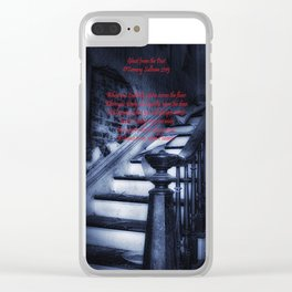 Ghost from the past  Tammy Sullivan poem and pic Clear iPhone Case