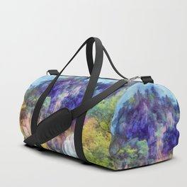 Mountain waterfall Duffle Bag