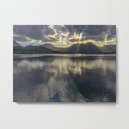 Dusk over Kaneohe Bay Metal Print