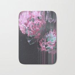 Glitch Pink Hydrangea Bath Mat
