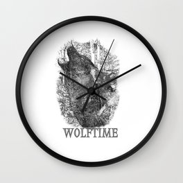 Time of the Wolf Wall Clock