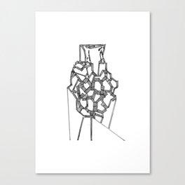 Line castle Canvas Print