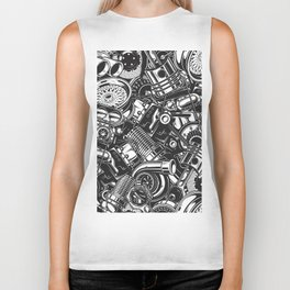 Automobile car parts pattern Biker Tank