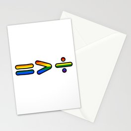 Equality = > ÷ Stationery Cards