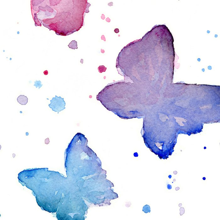 Butterflies Watercolor Abstract Splatters Leggings