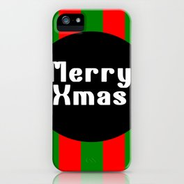 merry Xmas funny logo pattern iPhone Case
