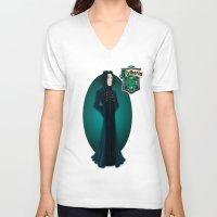 snape V-neck T-shirts featuring Severus Snape by Zeynep Aktaş
