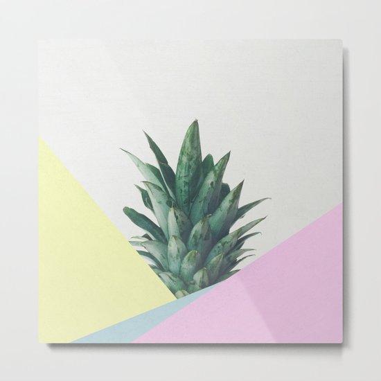 Pineapple Dip V Metal Print
