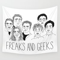 cactei Wall Tapestries featuring Freaks and Geeks by ☿ cactei ☿
