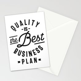 Quality Is The Best Business Plan Stationery Cards