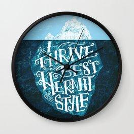 Hermit Iceberg Wall Clock