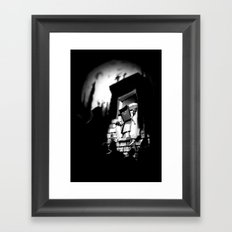Attack of the Mutant Pizza Framed Art Print