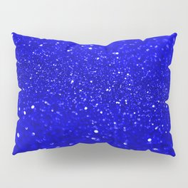 Bright Blue Glitter Pillow Sham