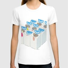Racoons SMALL White Womens Fitted Tee
