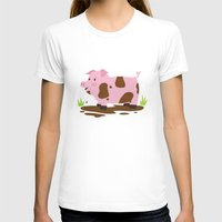 pig T-shirts featuring Pig by Claire Lordon