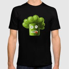 Stressed Out Broccoli MEDIUM Mens Fitted Tee Black