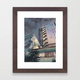 Tokyo at Night 02 Framed Art Print