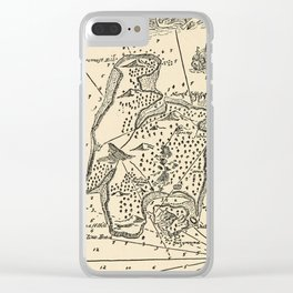 Vintage Treasure Island Pirate Map (1915) Clear iPhone Case
