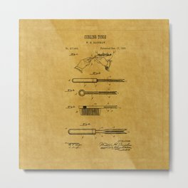 Curling Tong Patent 1899 Metal Print