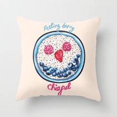 Food Pun - Feeling Berry Chiaful Throw Pillow
