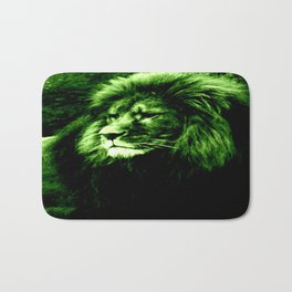 Green LION Bath Mat