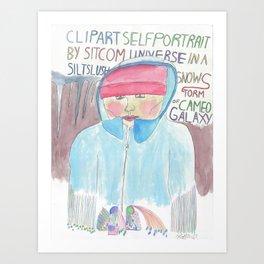 Clipart Self-Portrait by Sitcom Universe in a Silt Slush Snowstorm of Cameo Galaxy Art Print