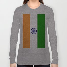 Flag of India-indian,mumbai,delhi,hindi,indus,buddhism,hinduism,buddha,gandhi Long Sleeve T-shirt