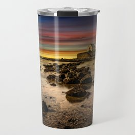 St Cwyfan Sunset Travel Mug