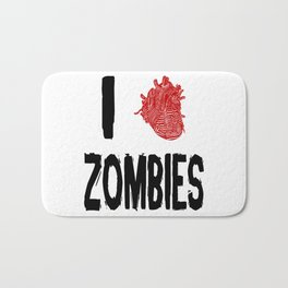 I Love Zombies with a Heart to replace the word Love Bath Mat