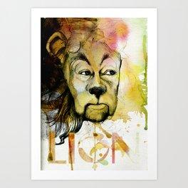 Cowardly Art Print