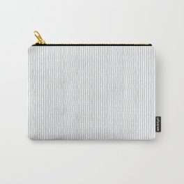 Minimalist black white modern hand drawn stripes Carry-All Pouch